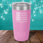Quarantine Mom Life Laser Etched Tumbler