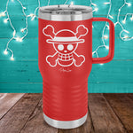 Skeleton Head 20oz Travel Mug