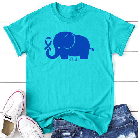 100% Donation - Colon Cancer - Elephant Ribbon