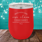 Mrs. Claus Cookie Company 12oz Stemless Wine Cup