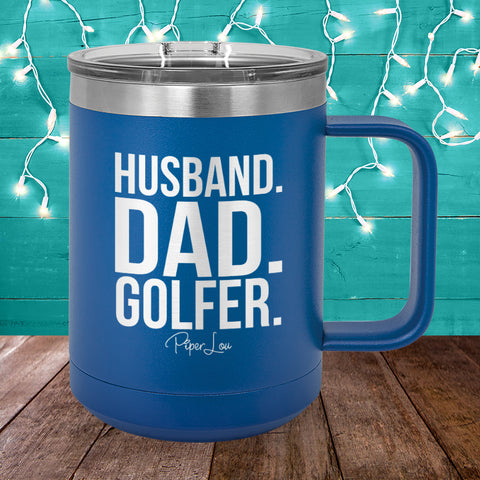 Husband Dad Golfer 15oz Coffee Mug Tumbler