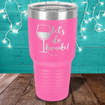 Let's Do Karaoke Wine Laser Etched Tumbler