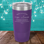 Mrs. Claus Cookie Company Laser Etched Tumbler