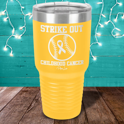 Childhood Cancer | Strike Out Laser Etched Tumbler