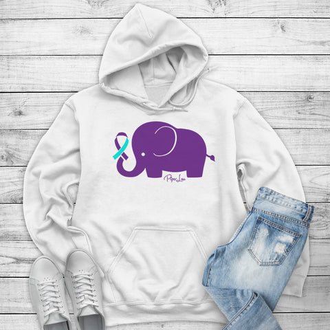 100% Donation - Suicide Awareness - Elephant Ribbon Winter Apparel