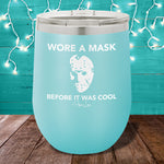 Wore A Mask Before It Was Cool Jason 12oz Stemless Wine Cup
