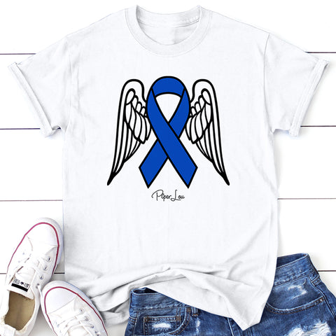100% Donation - Colon Cancer Angel Wings Ribbon