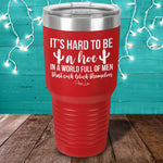 It's Hard To Be A Hoe Laser Etched Tumbler