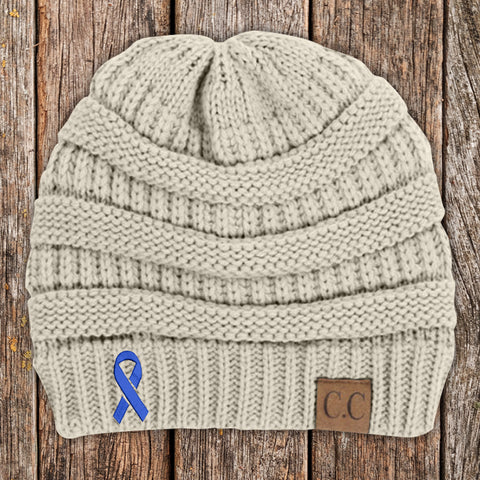 Colon Cancer Awareness Knit Beanie