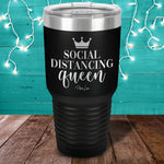 Social Distancing Queen Laser Etched Tumbler