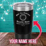 PL University Associate of Procrastination (CUSTOM) Laser Etched Tumbler