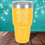 Just Saw The First Christmas Commercial Laser Etched Tumbler