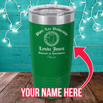 PL University Associate of Assclownery Custom Laser Etched Tumbler