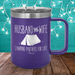 Husband And Wife Camping Partners 15oz Coffee Mug Tumbler