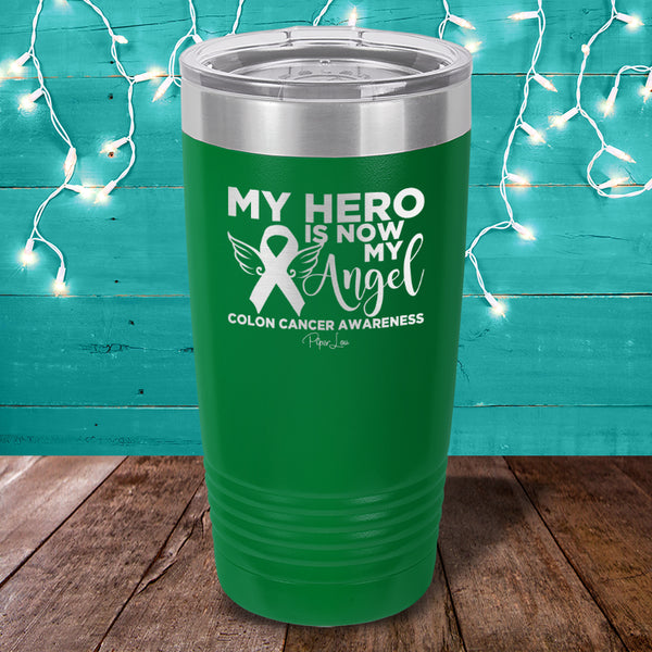 Donation Colon Cancer My Hero Is Now My Angel Laser Etched Tumbler Piper Lou Collection