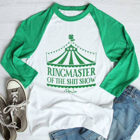 Ringmaster Of The Shit Show St. Patrick's Raglan (Unisex)