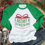 I Just Hit A Lick With The Box Christmas Raglan (UNISEX)