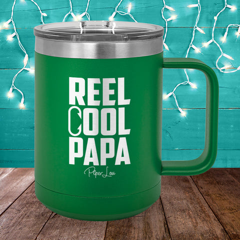 Reel Cool Papa 15oz Coffee Mug Tumbler