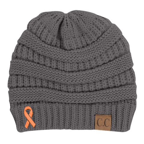 Multiple Sclerosis Awareness Ribbon Beanie