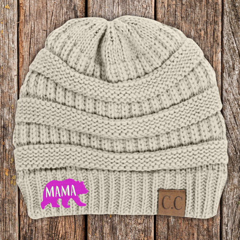 Mama Bear C.C Thick Knit Soft Beanie
