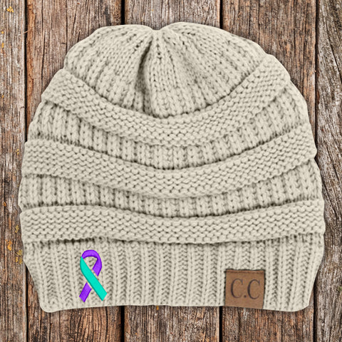 100% Donation - Suicide Awareness Knit Beanie