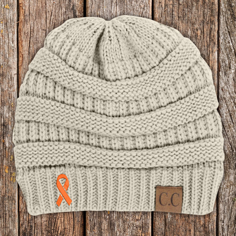 100% Donation - Kidney Cancer Awareness Knit Beanie