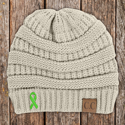 100% Donation - Arthritis Awareness Ribbon Beanie