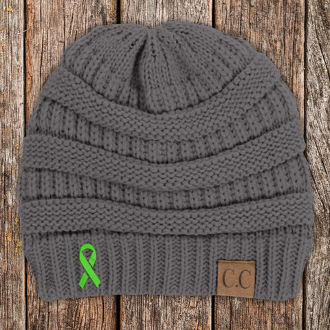 100% Donation - Lymphoma Awareness Knit Beanie