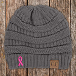 Donation - Breast Cancer Ribbon Beanie