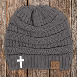 Cross C.C Thick Knit Soft Beanie