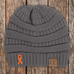 100% Donation - Leukemia Ribbon Beanie