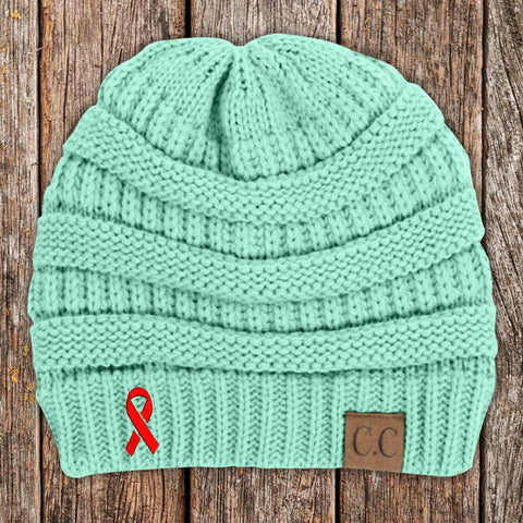 Heart Disease Awareness Knit Beanie