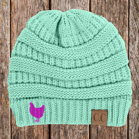 Chicken C.C Thick Knit Soft Beanie