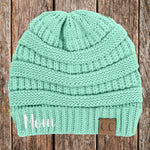 Mom C.C Thick Knit Soft Beanie