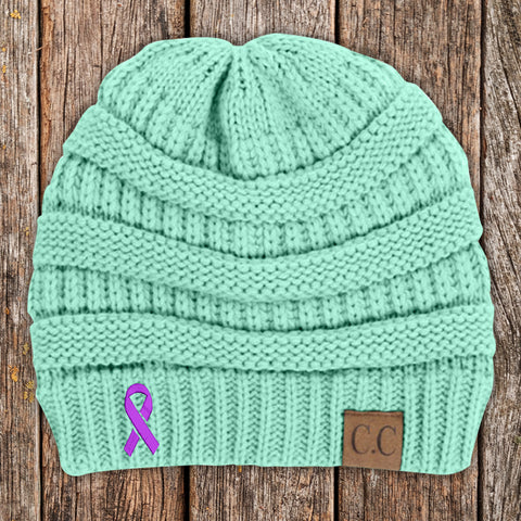 Crohn's Disease Awareness Ribbon Beanie