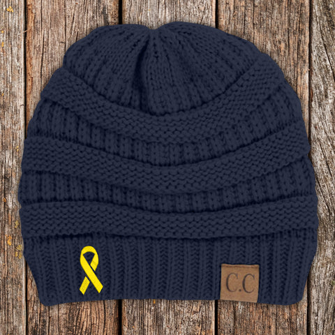 100% Donation - Childhood Cancer Ribbon Beanie