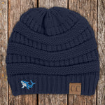 100% Donation - Beach Shark C.C Thick Knit Soft Beanie