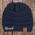 Blessed C.C Thick Knit Soft Beanie