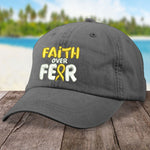 Childhood Cancer Faith Over Fear Hat