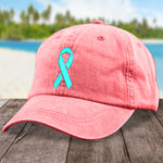 100% Donation - Ovarian Cancer Micro Ribbon Hat