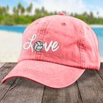 Cursive Love Volleyball Hat