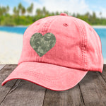 Military Camo Heart Hat