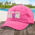 Alzheimer's Awareness No One Fights Alone Hat