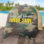 Girls Just Wanna Have Sun Hat