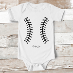 Baby Apparel | Baseball Stitches Baby Onesie