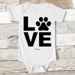 Baby Apparel | LOVE Pawprint Baby Onesie