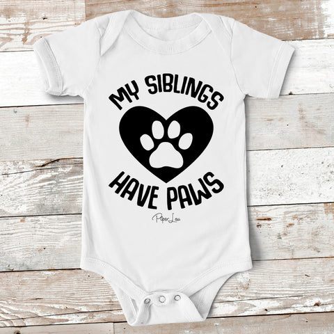 Baby Apparel - My Siblings Have Paws Baby Onesie
