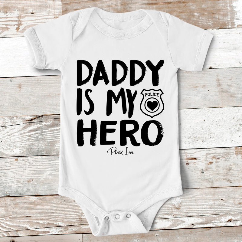 Baby Apparel Daddy Is My Hero Police Baby Onesie Piper Lou Collection