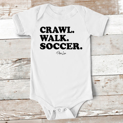 Baby Apparel - Crawl Walk Soccer Baby Onesie
