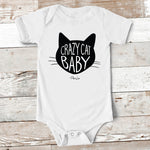 Baby Apparel - Crazy Cat Baby Baby Onesie